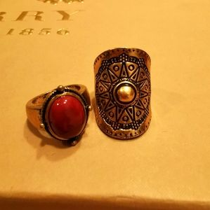 3 for $30   Set of 2 Vintage Rings Size 6